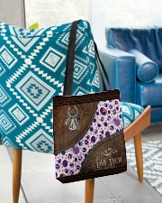 Medical Technologist Leather Pattern Print All-over Tote aos-all-over-tote-lifestyle-front-01