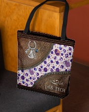 Medical Technologist Leather Pattern Print All-over Tote aos-all-over-tote-lifestyle-front-02