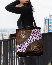 Medical Technologist Leather Pattern Print All-over Tote aos-all-over-tote-lifestyle-front-05