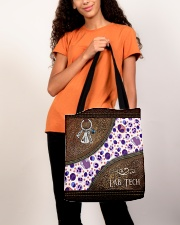 Medical Technologist Leather Pattern Print All-over Tote aos-all-over-tote-lifestyle-front-06