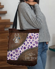 Medical Technologist Leather Pattern Print All-over Tote aos-all-over-tote-lifestyle-front-09
