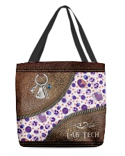 Medical Technologist Leather Pattern Print All-over Tote front