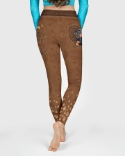 Dachshund Leather Pattern Print High Waist Leggings aos-high-waist-leggings-lifestyle-06