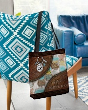 Salty Lil' Beach Leather Pattern Print All-over Tote aos-all-over-tote-lifestyle-front-01
