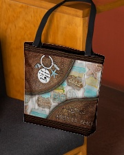 Salty Lil' Beach Leather Pattern Print All-over Tote aos-all-over-tote-lifestyle-front-02
