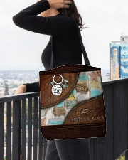 Salty Lil' Beach Leather Pattern Print All-over Tote aos-all-over-tote-lifestyle-front-05