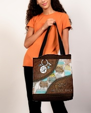Salty Lil' Beach Leather Pattern Print All-over Tote aos-all-over-tote-lifestyle-front-06