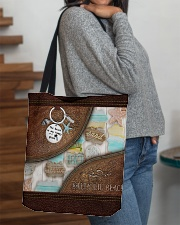 Salty Lil' Beach Leather Pattern Print All-over Tote aos-all-over-tote-lifestyle-front-09