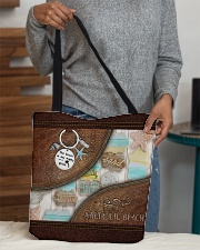 Salty Lil' Beach Leather Pattern Print All-over Tote aos-all-over-tote-lifestyle-front-10