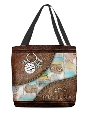 Salty Lil' Beach Leather Pattern Print All-over Tote front