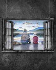 Father And Son Go Fishing Gift For Father'S Day 17x11 Poster aos-poster-landscape-17x11-lifestyle-12