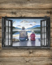Father And Son Go Fishing Gift For Father'S Day 17x11 Poster aos-poster-landscape-17x11-lifestyle-14