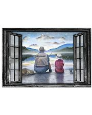 Father And Son Go Fishing Gift For Father'S Day 17x11 Poster front