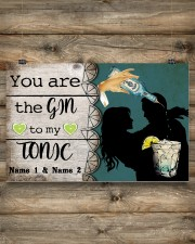 You Are The Gin To My Tonic Personalized 17x11 Poster aos-poster-landscape-17x11-lifestyle-14