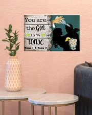 You Are The Gin To My Tonic Personalized 17x11 Poster poster-landscape-17x11-lifestyle-21