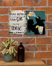 You Are The Gin To My Tonic Personalized 17x11 Poster poster-landscape-17x11-lifestyle-23