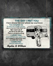 Personalized Camping Couple The Day I Met 17x11 Poster aos-poster-landscape-17x11-lifestyle-12