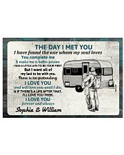 Personalized Camping Couple The Day I Met 17x11 Poster front