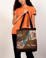 Custom Name Counselor Respect Caring Courage All-over Tote aos-all-over-tote-lifestyle-front-06