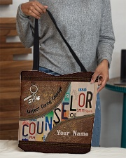 Custom Name Counselor Respect Caring Courage All-over Tote aos-all-over-tote-lifestyle-front-10