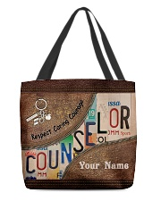 Custom Name Counselor Respect Caring Courage All-over Tote back