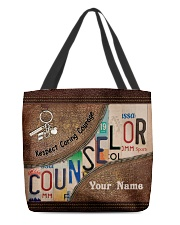 Custom Name Counselor Respect Caring Courage All-over Tote front