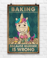 Baking Because Murder Is Wrong  11x17 Poster aos-poster-portrait-11x17-lifestyle-17