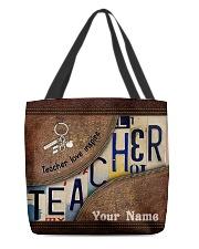 Custom Name Teacher Love Inspire All-over Tote front