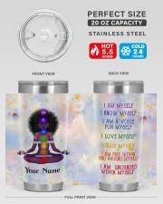 I Am Myself  20oz Tumbler aos-20oz-tumbler-lifestyle-front-60