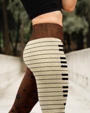 Love Music Leather Pattern Print High Waist Leggings aos-high-waist-leggings-lifestyle-11