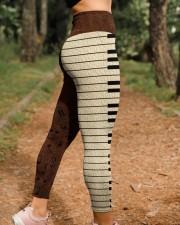 Love Music Leather Pattern Print High Waist Leggings aos-high-waist-leggings-lifestyle-21