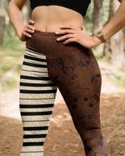 Love Music Leather Pattern Print High Waist Leggings aos-high-waist-leggings-lifestyle-22