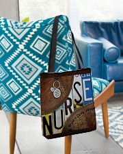 Nurse Respect Caring Courage Leather Pattern All-over Tote aos-all-over-tote-lifestyle-front-01