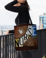Nurse Respect Caring Courage Leather Pattern All-over Tote aos-all-over-tote-lifestyle-front-05