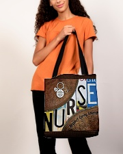 Nurse Respect Caring Courage Leather Pattern All-over Tote aos-all-over-tote-lifestyle-front-06