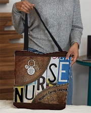 Nurse Respect Caring Courage Leather Pattern All-over Tote aos-all-over-tote-lifestyle-front-10