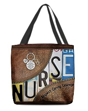 Nurse Respect Caring Courage Leather Pattern All-over Tote back