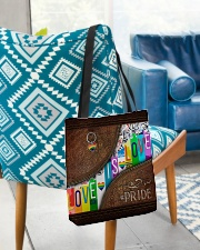 Love Is Love Leather Pattern Print All-over Tote aos-all-over-tote-lifestyle-front-01