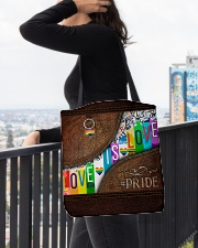 Love Is Love Leather Pattern Print All-over Tote aos-all-over-tote-lifestyle-front-05