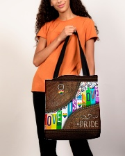 Love Is Love Leather Pattern Print All-over Tote aos-all-over-tote-lifestyle-front-06