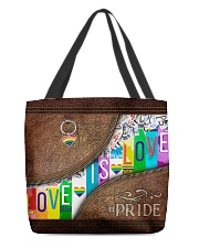 Love Is Love Leather Pattern Print All-over Tote front