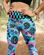 Racing Flag High Waist Leggings aos-high-waist-leggings-lifestyle-22