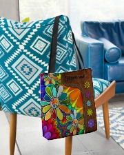 Hippie Soul Leather Pattern Print  All-over Tote aos-all-over-tote-lifestyle-front-01