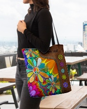 Hippie Soul Leather Pattern Print  All-over Tote aos-all-over-tote-lifestyle-front-04