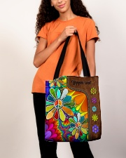 Hippie Soul Leather Pattern Print  All-over Tote aos-all-over-tote-lifestyle-front-06