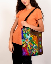 Hippie Soul Leather Pattern Print  All-over Tote aos-all-over-tote-lifestyle-front-07