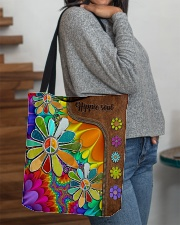 Hippie Soul Leather Pattern Print  All-over Tote aos-all-over-tote-lifestyle-front-09