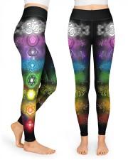 Yoga 7 Color Chakras High Waist Leggings front