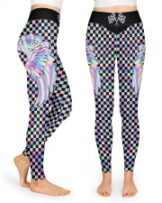 Never Go Faster Than Your Guardian Angel High Waist Leggings front
