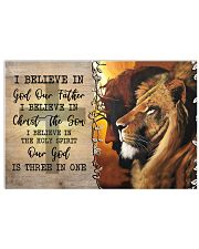 I Believe In God Our Father  17x11 Poster front